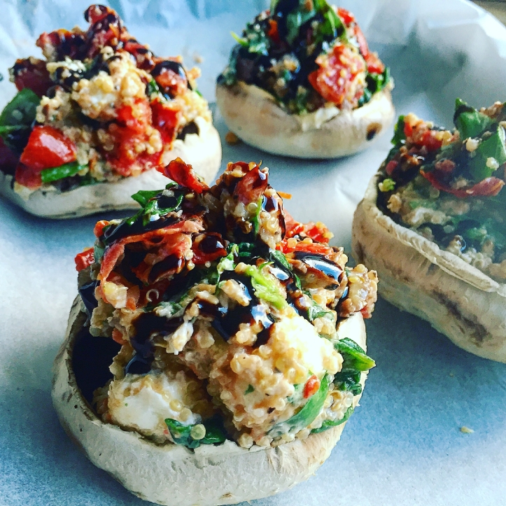 Goats Cheese Stuffed Portobello's 3